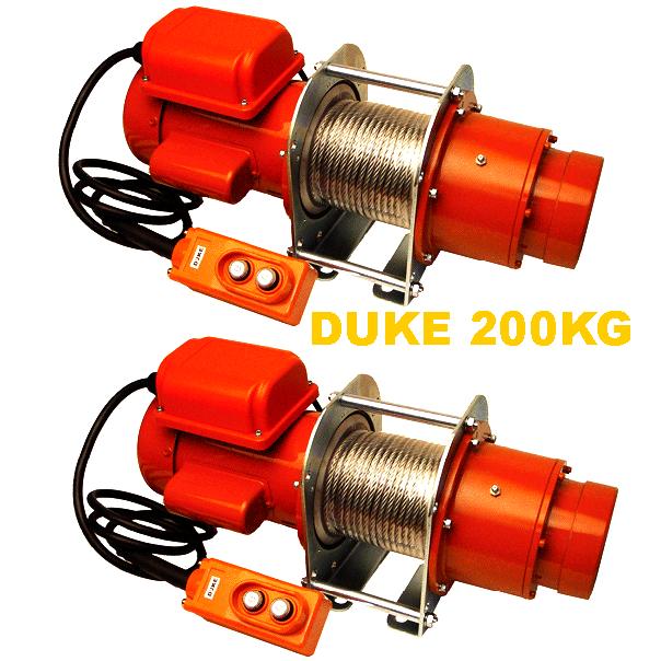 Tời cáp điện Duke 200Kg